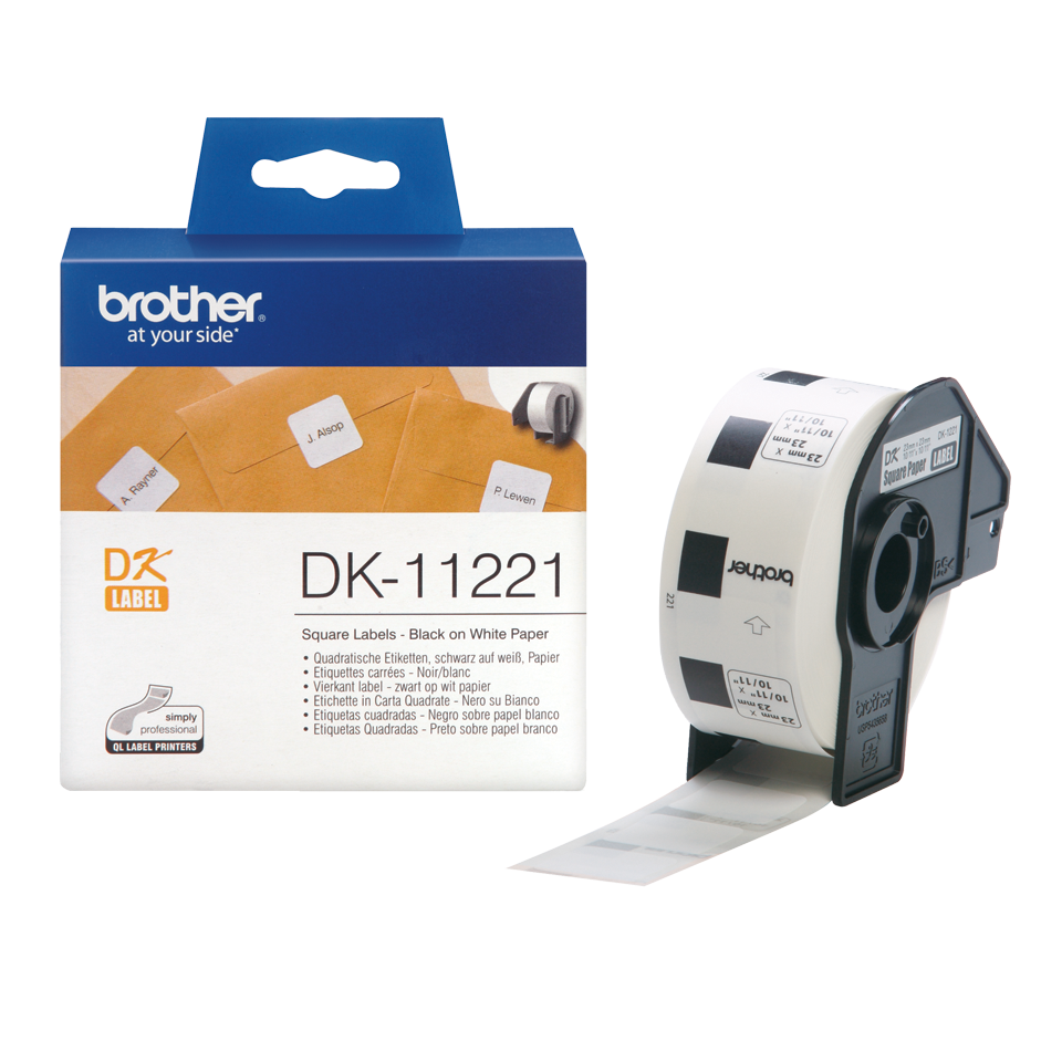 5x Etiketten für Brother P-Touch DK11221 23x23mm