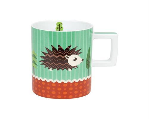 Becher Forest Animals Igel Waldtiere Kaffeetasse Kaffeebecher ...