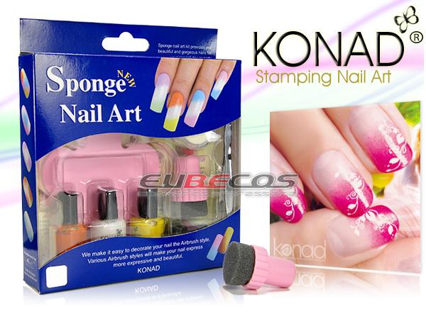 Stamping Sponge Set Original Konad Nailart Airbrush Ebay