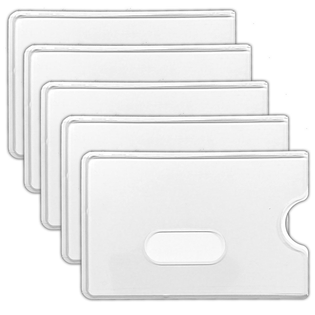 5x schutzh lle kreditkarte ec karte hartplastik. Black Bedroom Furniture Sets. Home Design Ideas