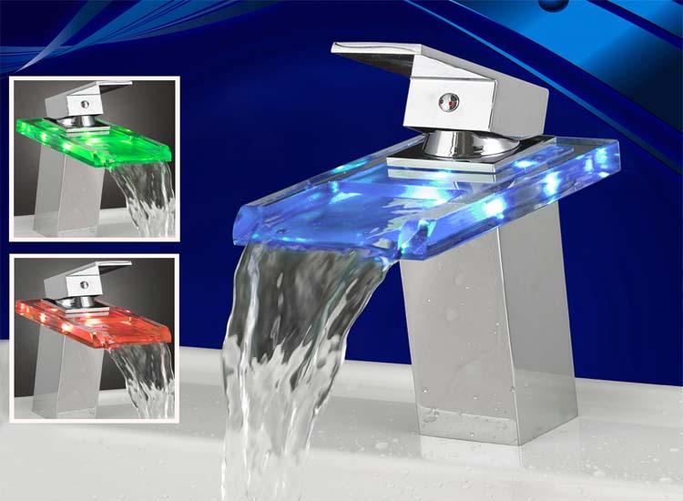 Wasserhahn Beleuchtet led luxus line armatur | wasserhahn beleuchtet | baql2