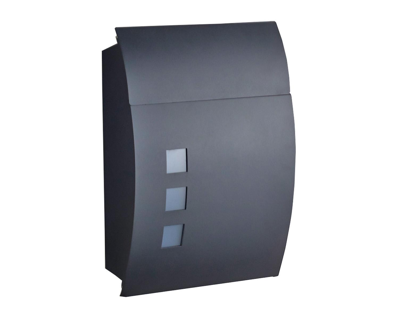Design Mailbox Matte Black Mailbox Outdoor Mailbox Post Mailbox Ebay