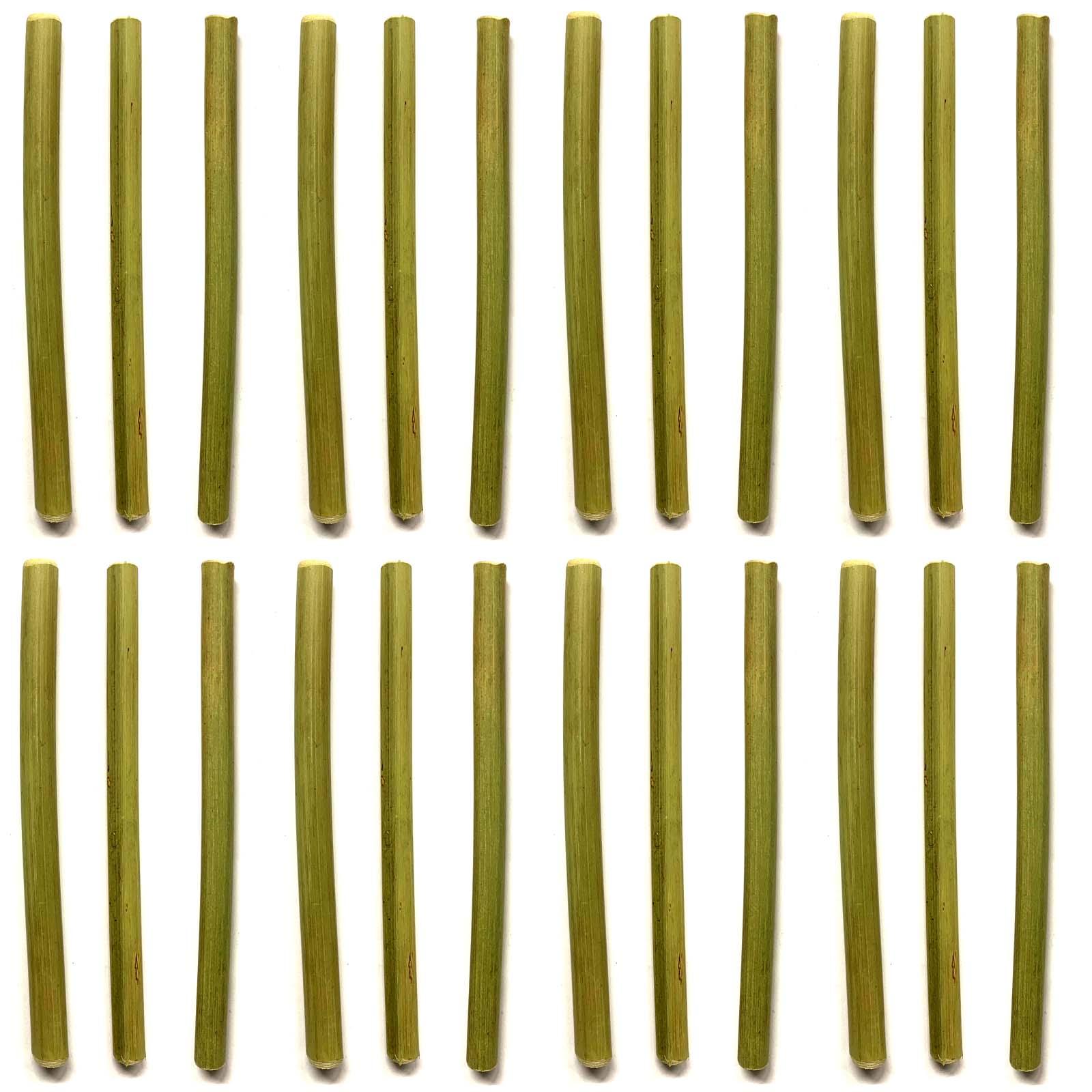 6 Strohhalme aus BambusTrinkhalme WiederverwendbarTrink Cocktail Röhrchen