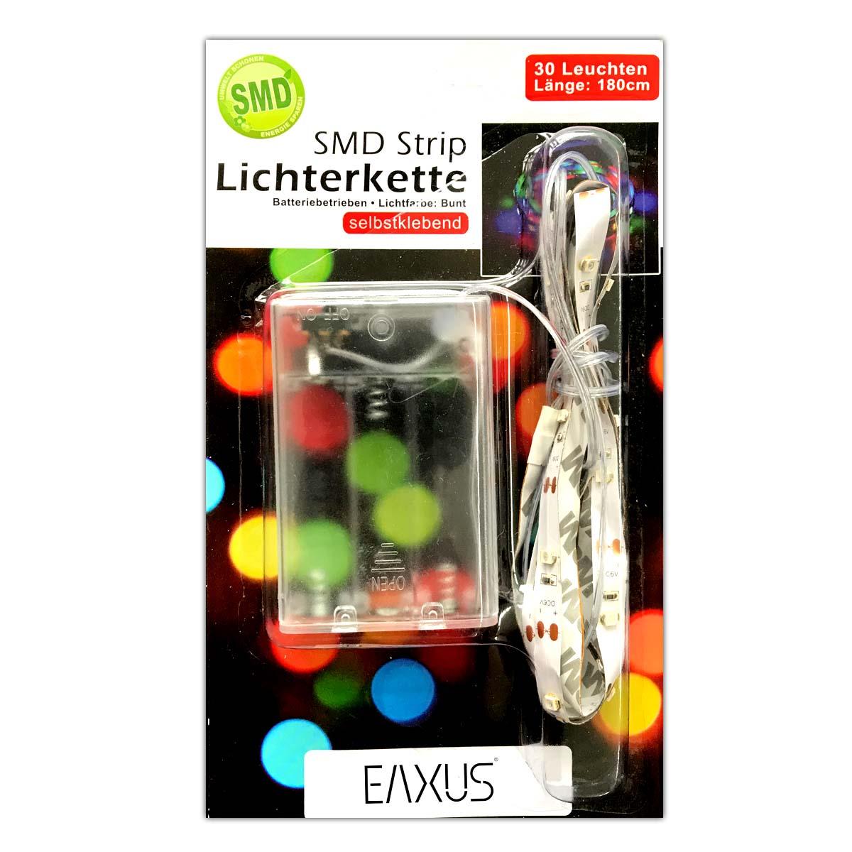 batterie lichtleiste bunt 30 smd lichterkette led streifen band strips kette ebay. Black Bedroom Furniture Sets. Home Design Ideas