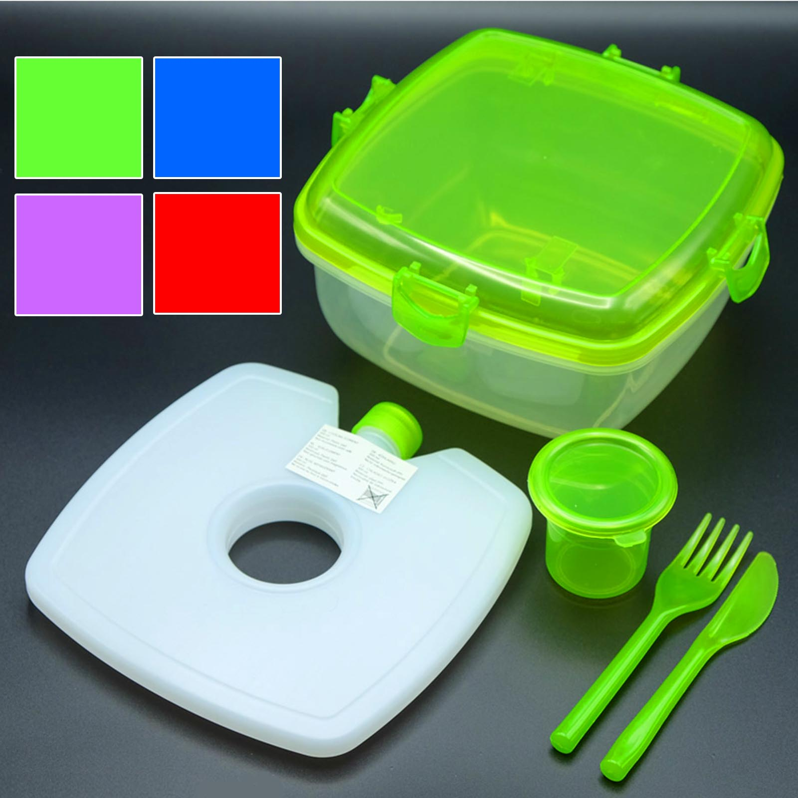 Lunchbox-Set Salat-To-Go | Frischhalte-Box Kühlakku | Lunchbox_cool_var