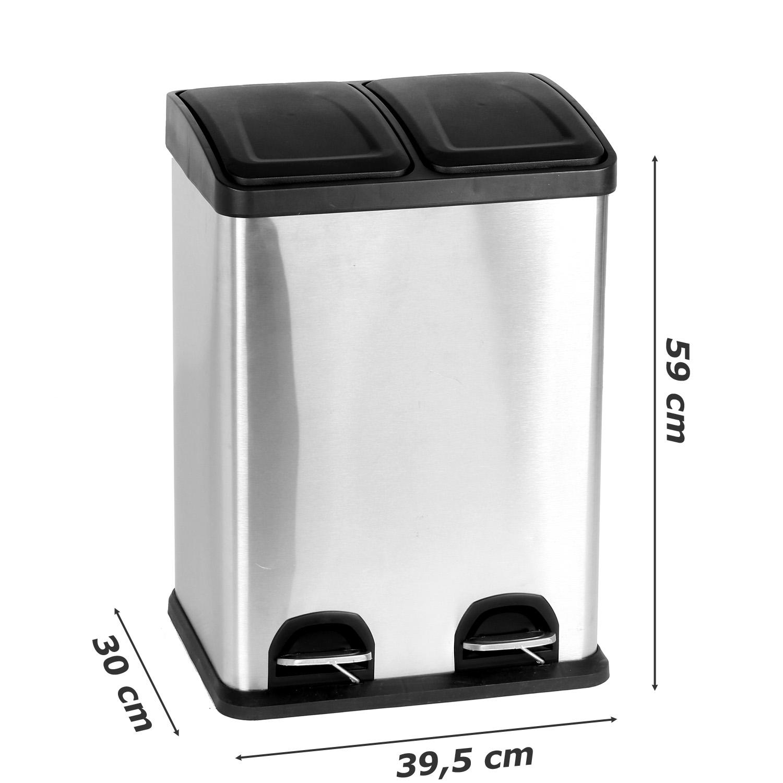 Duo Küchen Mülleimer 19x190 Liter Abfalleimer Treteimer Mülltrenner  Müllsammler  eBay