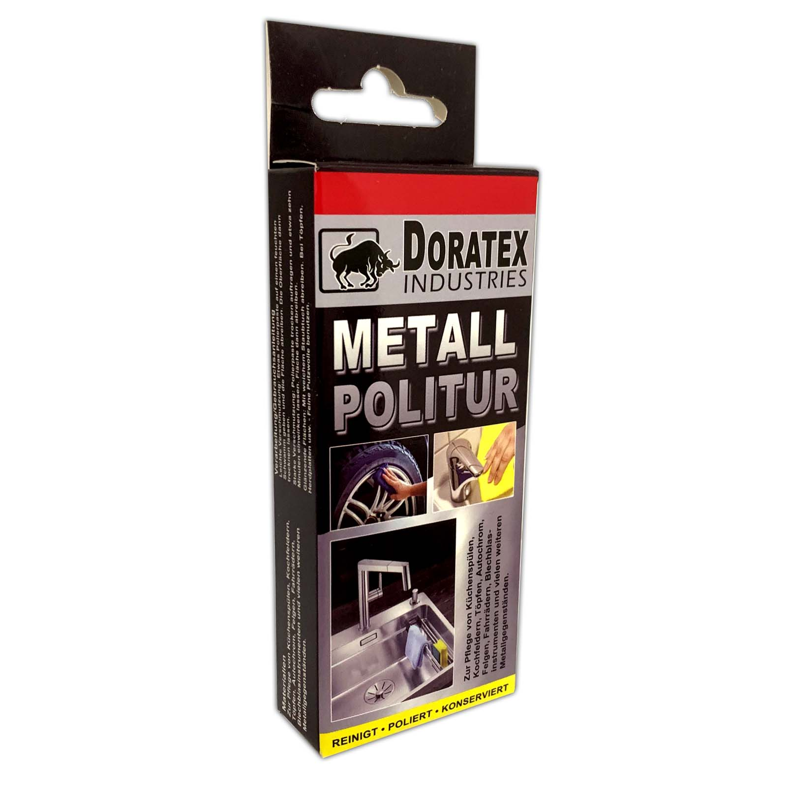 Doratex Industries Metall Politur | Polierpaste Chromglanz 10g | Metallpolitur