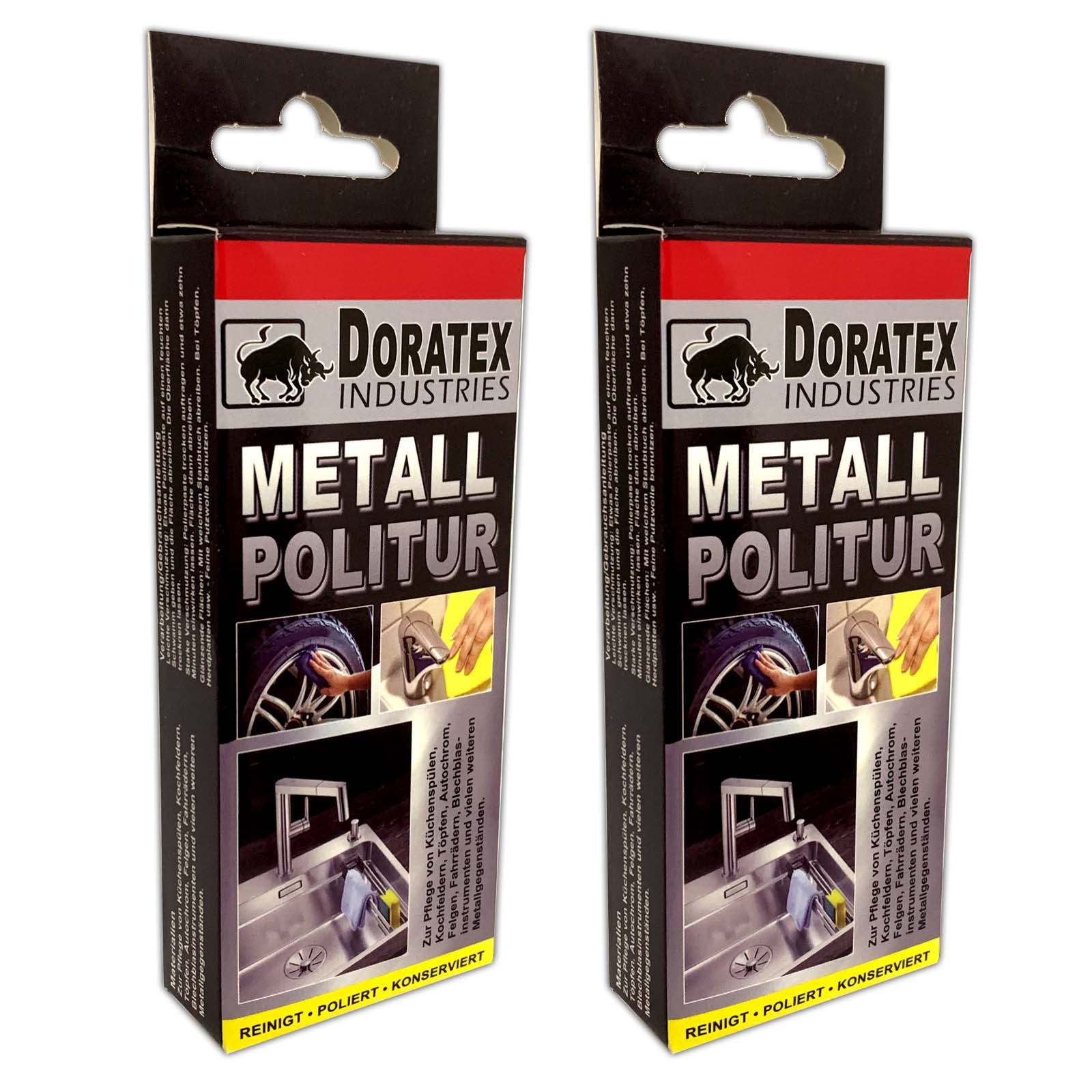 Doratex Industries 2er Set Metall Politur | Polierpaste 10g | 2er_Metallpolitur