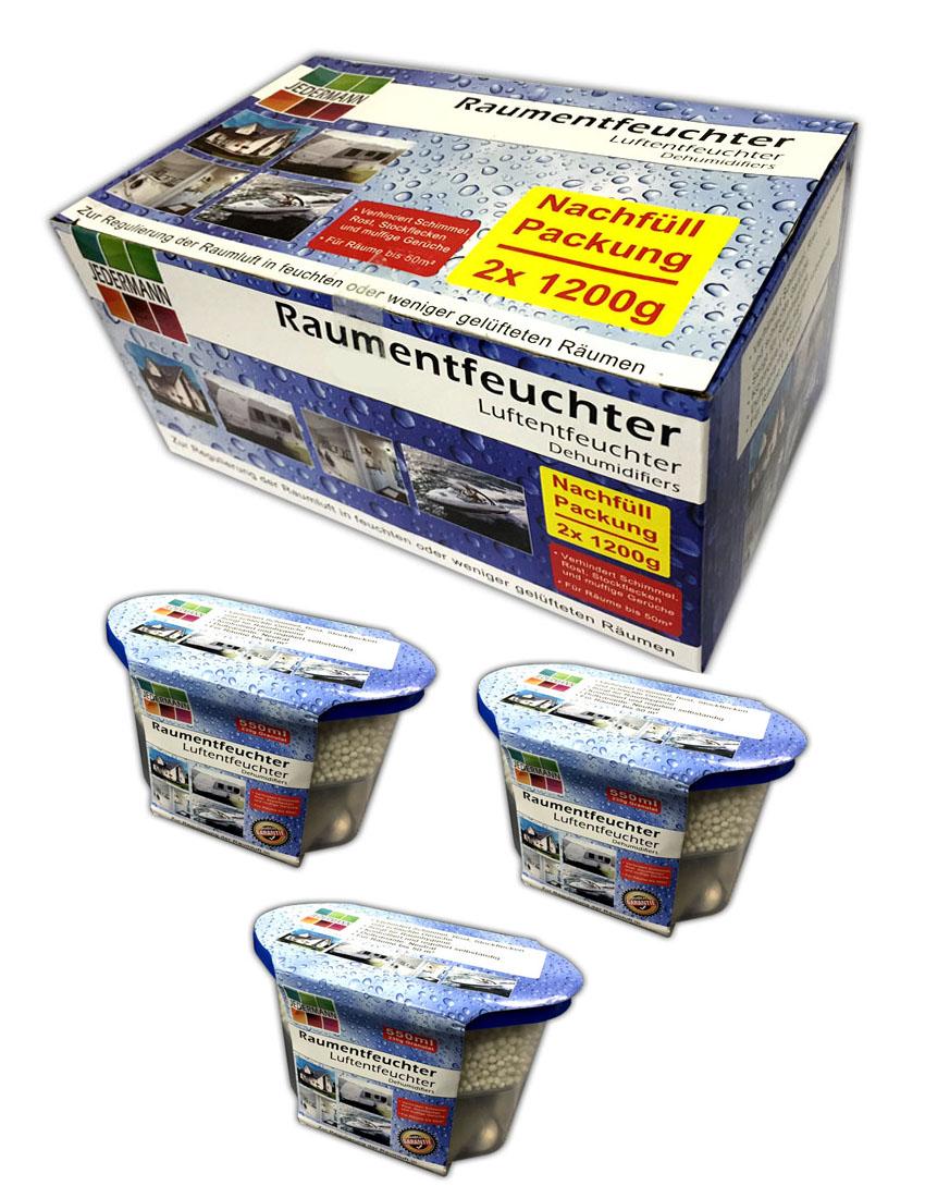 set 3x luftentfeuchter mit nachf llpack granulat raumentfeuchter box haus kfz 4260407035845 ebay. Black Bedroom Furniture Sets. Home Design Ideas