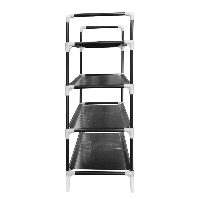 schuhschrank f r bis zu 16 paar schuhe auf 4 ebenen schuhregal klein. Black Bedroom Furniture Sets. Home Design Ideas