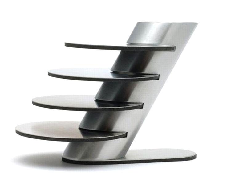 4x design edelstahl glas untersetzer mit st nder 5 tlg rutschfeste unterseite ebay. Black Bedroom Furniture Sets. Home Design Ideas