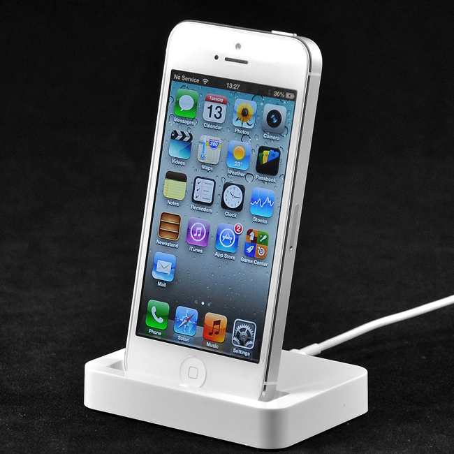 EAXUS Dockingstation für iPhone 5, 5S iPod touch - auch mit Bumper | iphone_dock