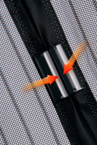 magic klick moskitonetz t r fliegengitter magnetverschluss fliegennetz 100x210cm ebay. Black Bedroom Furniture Sets. Home Design Ideas