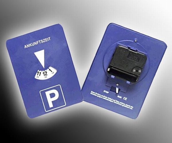 2x Mitlaufende Parkscheibe mit Uhrwerk elektronische Parkuhr Run Stop Schalter