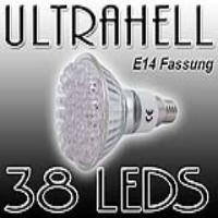 EAXUS LED SPOT Strahler E14 warmweiss, 38 LEDs | E14_38