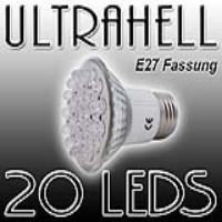 EAXUS LED SPOT Strahler E27 warmweiss, 20 LEDs | E27_20