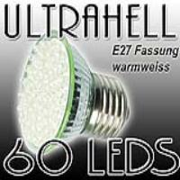 EAXUS LED SPOT Strahler E27 warmweiss, 60 LEDs| E27_60w