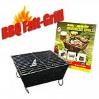 Faltbarer BBQ Mini Grill mit Grillrost | Mobiler Holzkohle Klappgrill | Grill