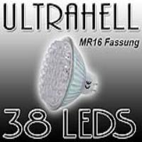 EAXUS LED Strahler 38 LEDs, MR16, GU 5,3 12V | MR16_38