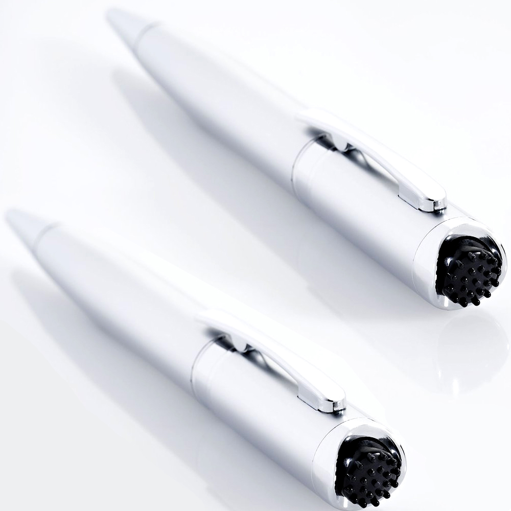 2er Set Kugelschreiber mit Massagefunktion | Kuli | Stift | 2er_Vibrationsstift