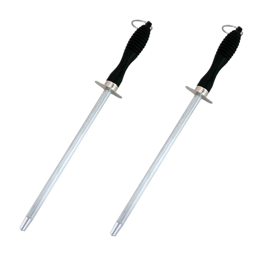 2er Set Messerschärfer Schleifstab 31cmWetzstahl Messer Wetzstab Abziehstahl