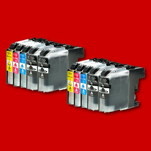 Multipack: 10 kompatible Patronen für Brother LC127 / LC125 ohne Chip