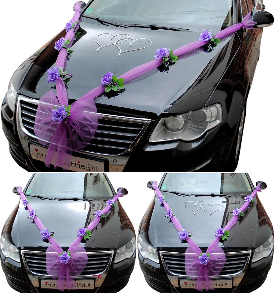 Hochzeit Autodeko Brautauto Autoschmuck Hochzeitsauto
