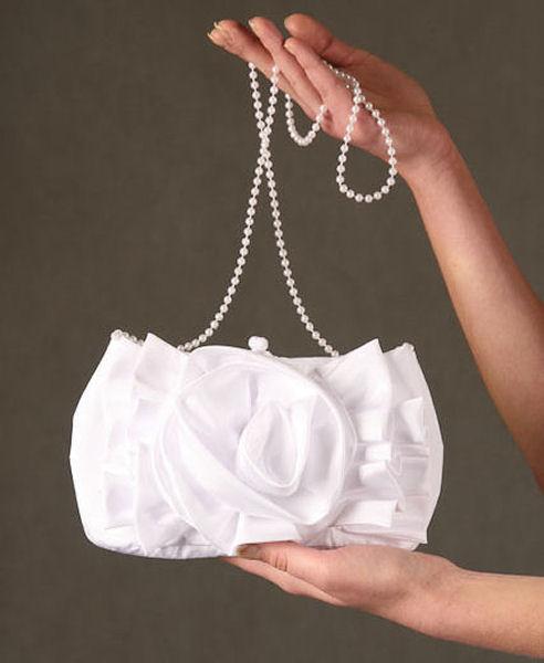 Traumhafte Brauttasche Satin Braut Beutel Tasche f Hochzeit Kommunion T11