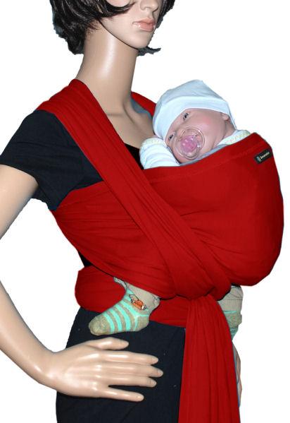 Rot Tragetuch SONNENSCHEIN Babytragetuch Babytrage Bauchtrage Stretch