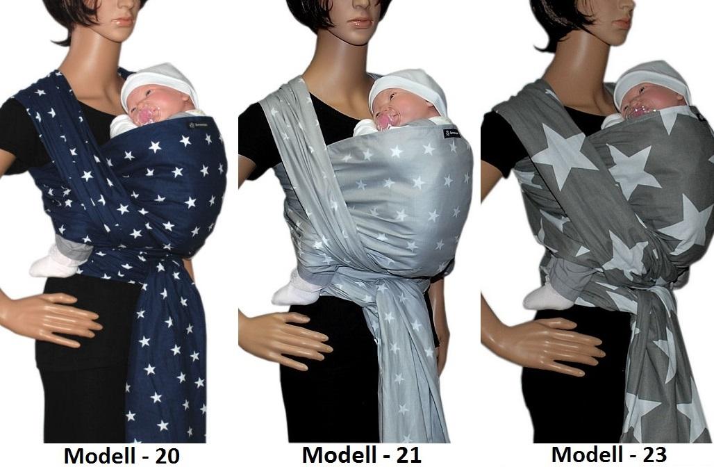 100/% Baumwolle Tragetuch Babytragetuch Babytrage Baby Bauchtrage Modell 21