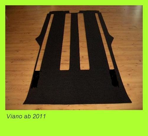 Gastraumteppich Fußmatte hinten Mercedes Vito Tourer Select V447 447 1 Tür