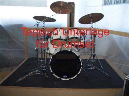 teppich unterlage f r drum drumset schlagzeug anthrazit 200cm x 200cm. Black Bedroom Furniture Sets. Home Design Ideas