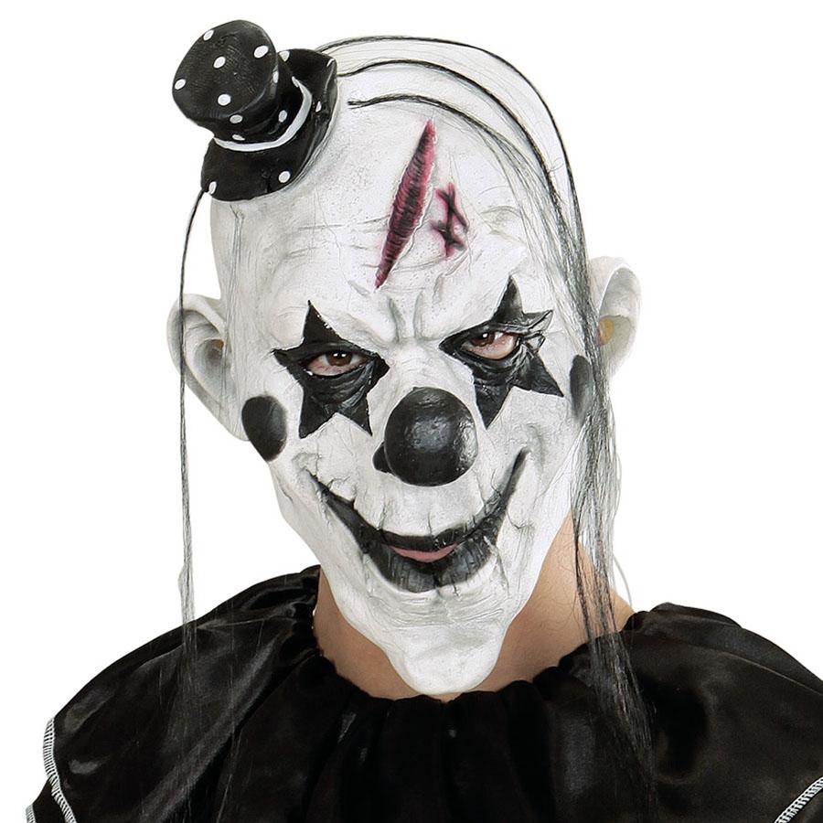 attraktive Mode billigsten Verkauf am billigsten Details zu KILLER CLOWN MASKE # Halloween Karneval Horror Herren Mörder  Kostüm Party 00848