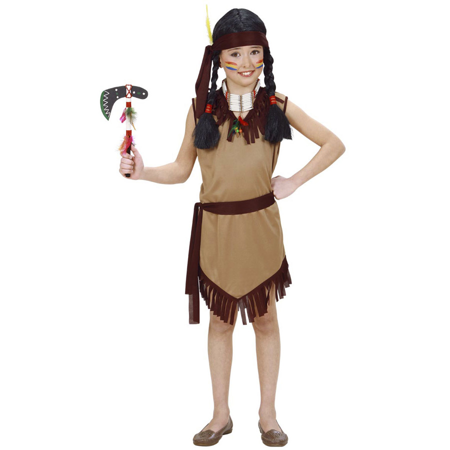 kinder indianerin kleid karneval indianer frau m dchen. Black Bedroom Furniture Sets. Home Design Ideas