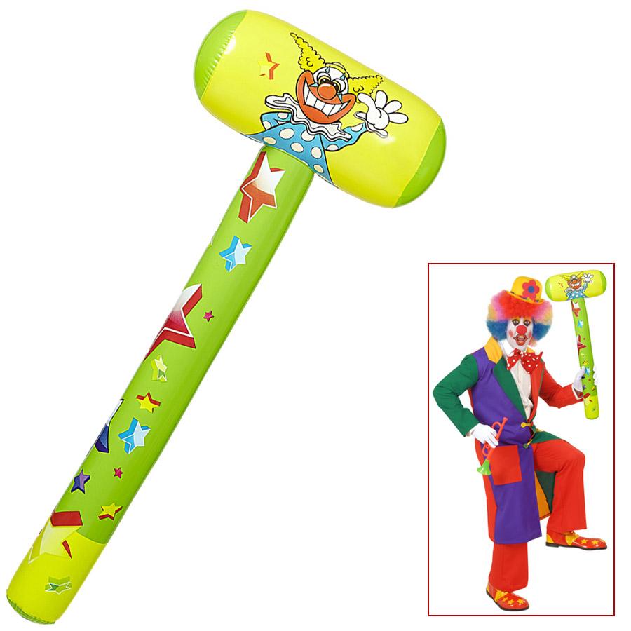 Clownkostüm Zubehör Plastikhammer Karneval Zirkus Clown Hammer aufblasbar 96cm