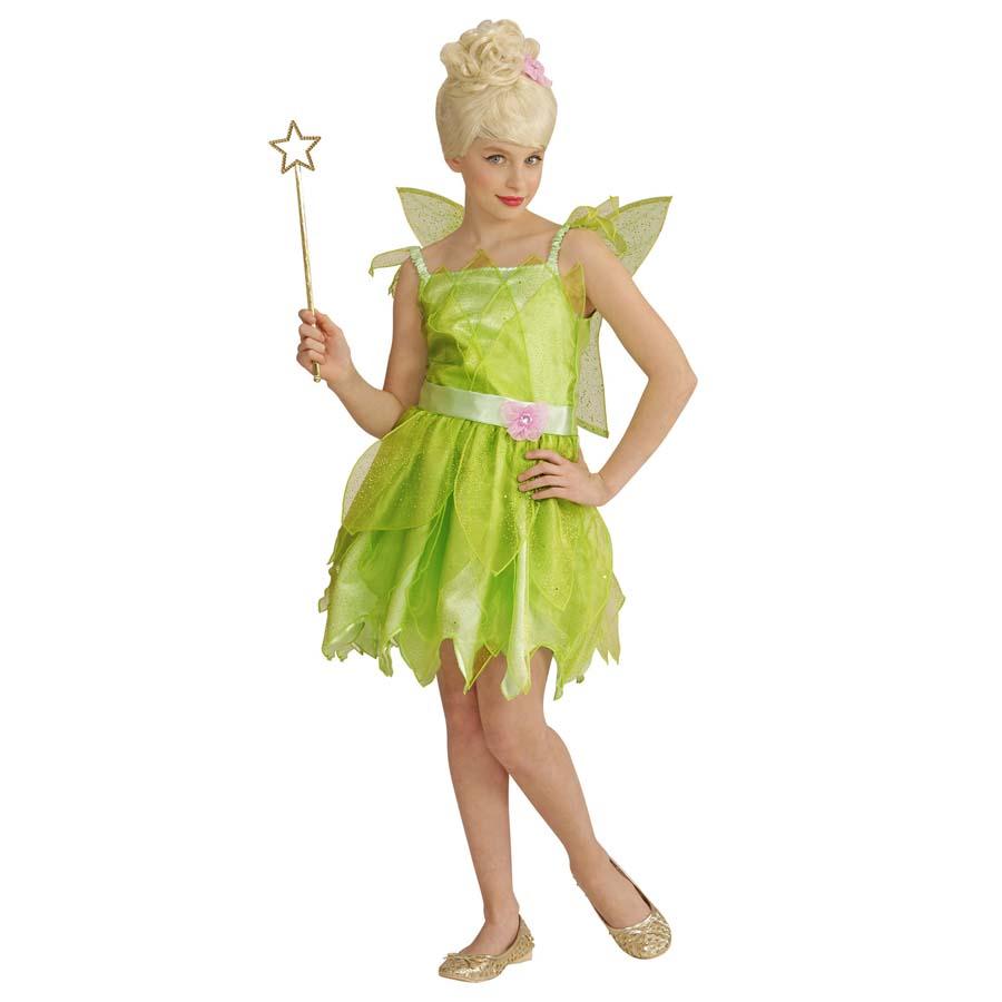 Grunes Kinder Feen Kostum Flugel Karneval Fasching Marchen Elfen Madchen Kleid Ebay