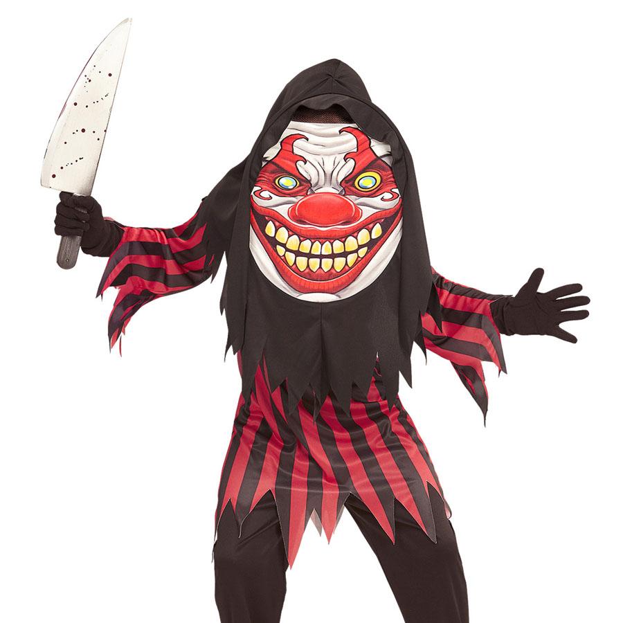 kinder clown kost m xl maske halloween horror m rder jungen party 152 158 0776 ebay. Black Bedroom Furniture Sets. Home Design Ideas