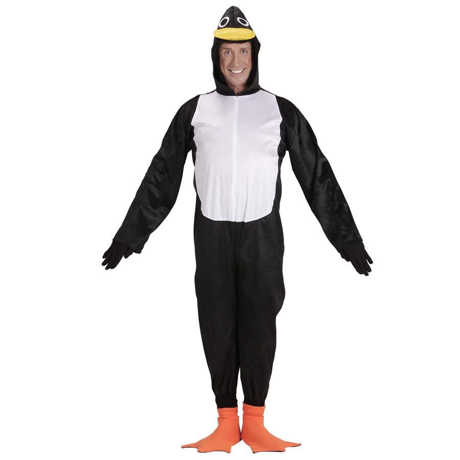 Pinguinkostüm Cape Vogelkostüm Regencape schwarz-weiß Regenponcho Fasching