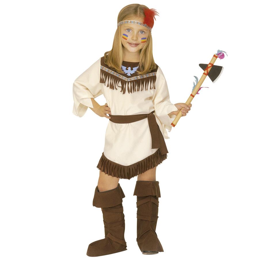 Kinder Indianerin Kostum Gr 110 4378g P