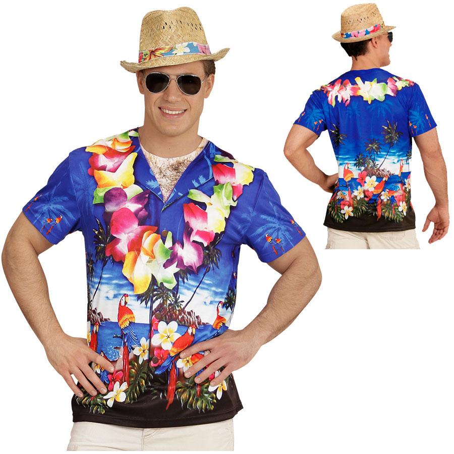 HERREN 3D SHIRT HAWAIIANER Sommer Meer Südsee Hawaii Kostüm Party ...