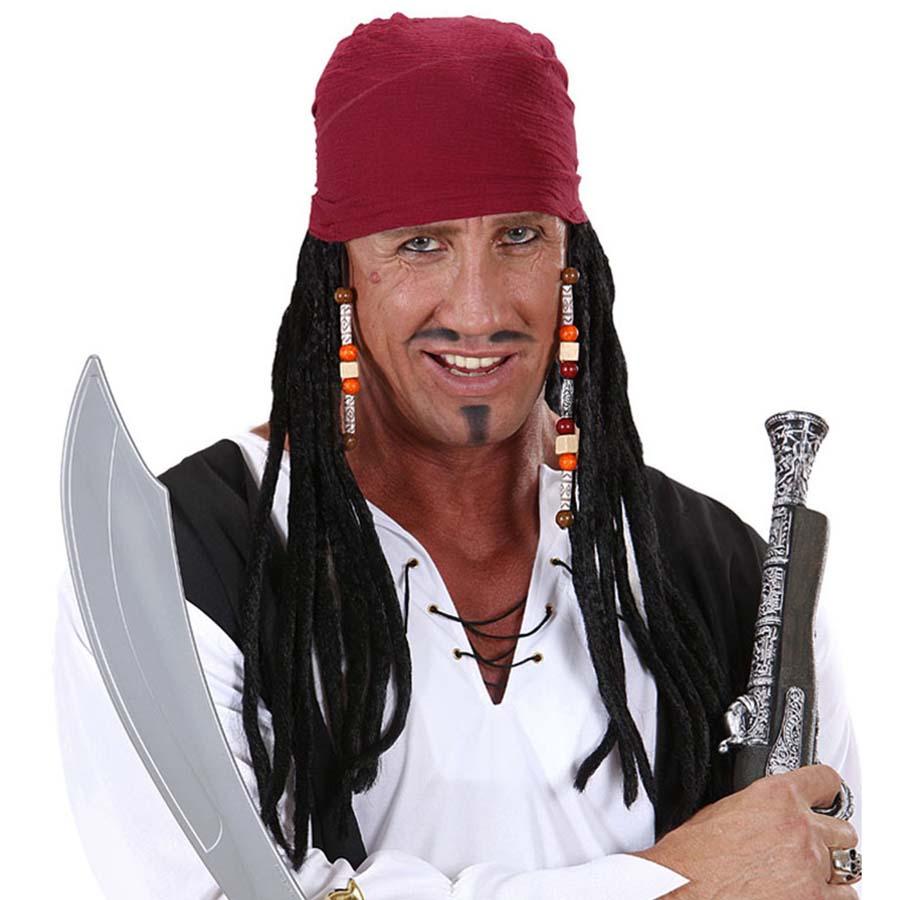 """PERÜCKE /""""PIRAT/""""  Karneval Fasching Party Perrücke Piratenperücke Kopftuch"""