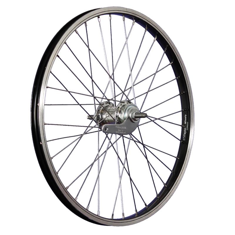 taylor wheels 20 pouces roue arri re v lo r trop dalage 406 19 noir argent ebay. Black Bedroom Furniture Sets. Home Design Ideas