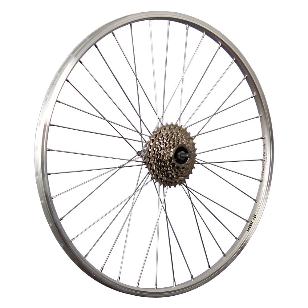 Taylor Wheels 26 Zoll Laufradsatz Schürmann Yak19 Aluminiumnabe schraub silber