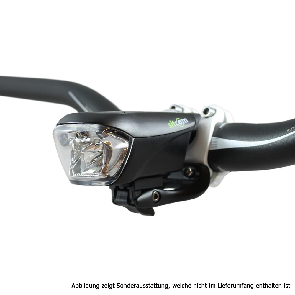 AXA GREENLINE 15 FAHRRAD LICHT SET USB SCHEINWERFER LED AKKU FRONT LEUCHTE STVZO