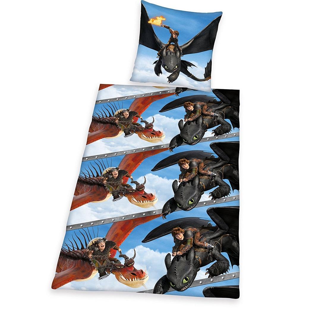 Dragons Bettwäsche Set 135x200 Drachenzähmen Leicht Gemacht 44320