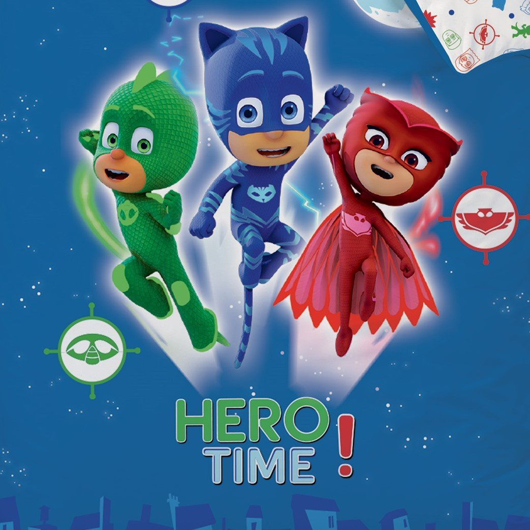 Pj Masks Pyjamahelden Wende Bettwäsche Set 135x200cm 80x80cm Biber