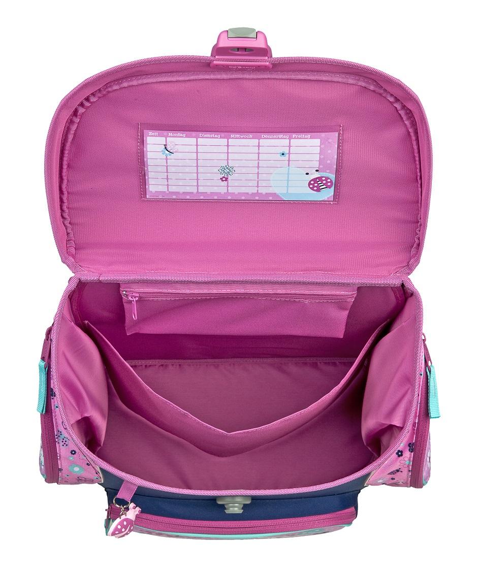 ladybug love marienk fer schulranzen set 8tlg scooli campus up rosa dose flasche ebay. Black Bedroom Furniture Sets. Home Design Ideas