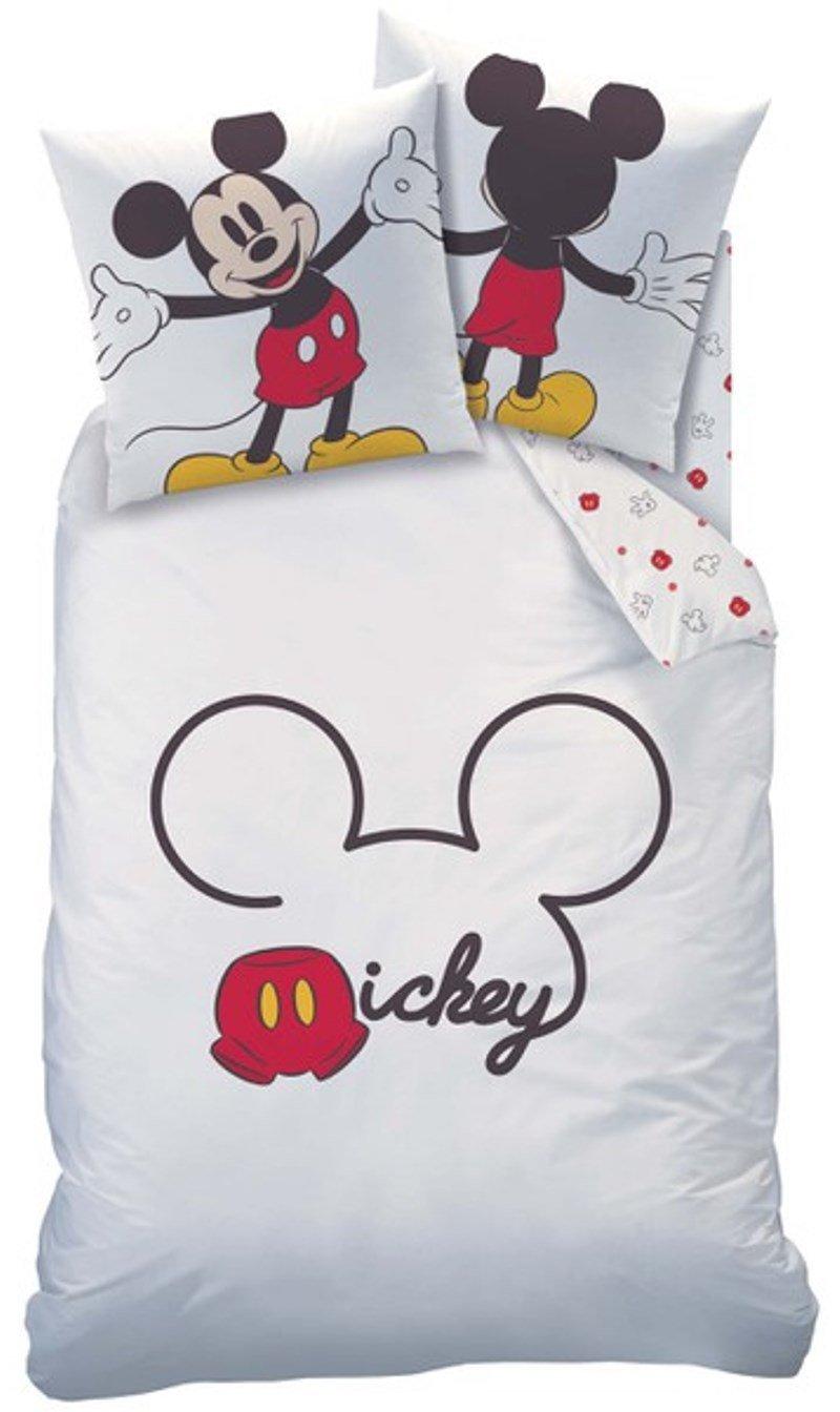 disney mickey maus wende bettw sche set 135x200cm 80x80 100 baumwolle linon ebay. Black Bedroom Furniture Sets. Home Design Ideas
