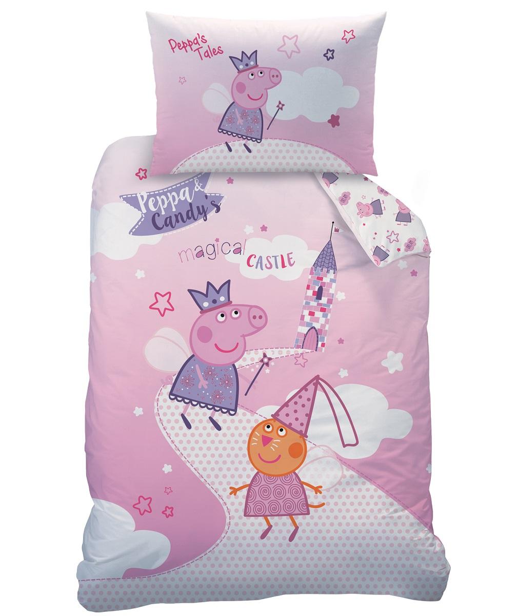 peppa pig wutz baby wende bettw sche set 100x135 40x60cm linon od biber flanell ebay. Black Bedroom Furniture Sets. Home Design Ideas