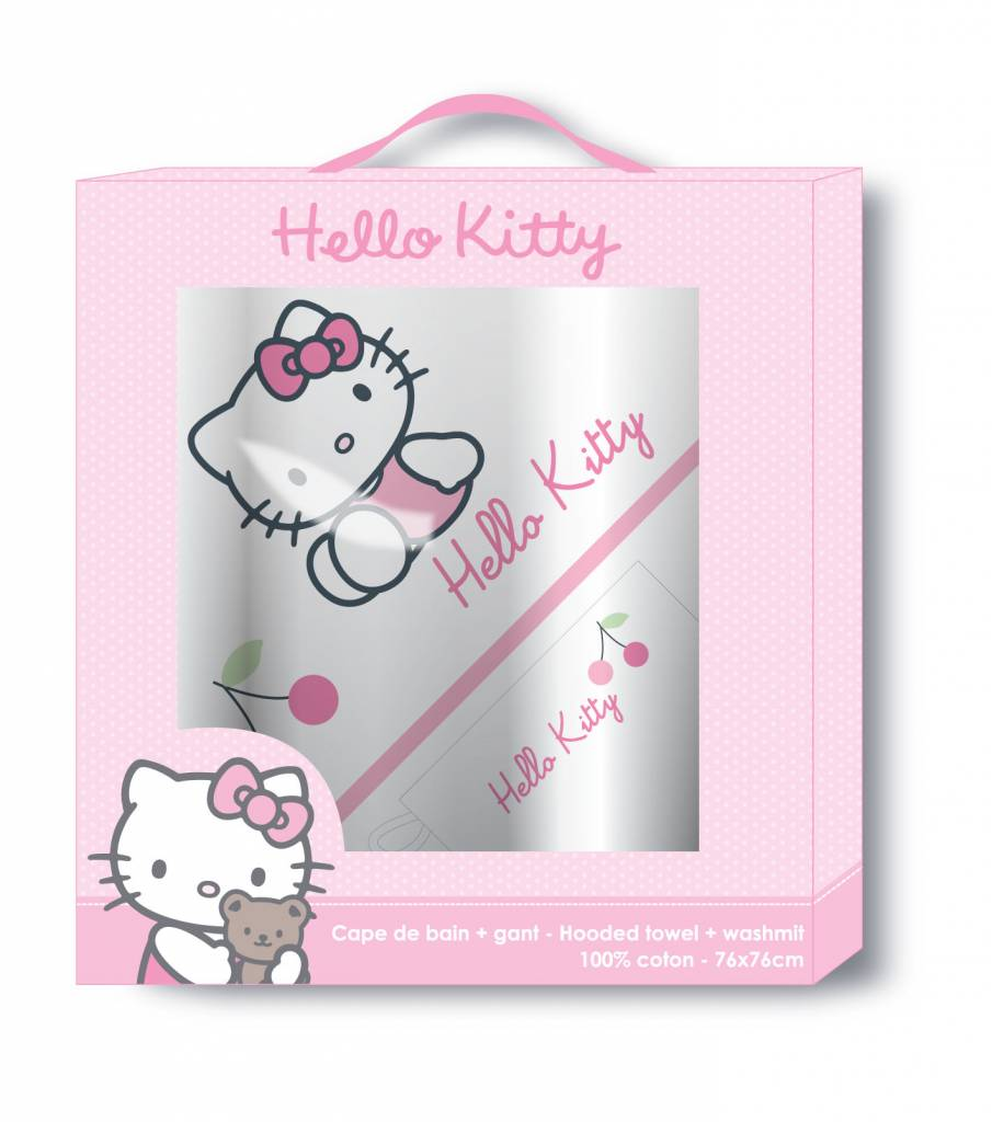 hello kitty 041793 geschenkbox badeponcho waschhandschuh badetuch poncho ebay. Black Bedroom Furniture Sets. Home Design Ideas
